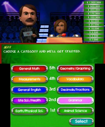Are You Smarter Than a 5th Grader 3DS Free eShop Download Code 1