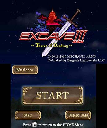 Excave III Tower of Destiny Free eShop Download Code 1