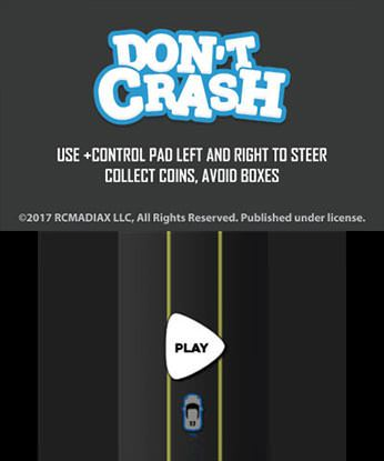 DON'T CRASH GO Free eShop Download Code 3